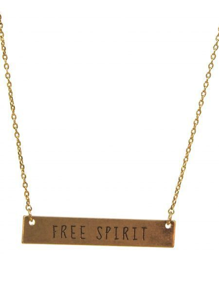 Free Spirit Bangle Necklace Gold