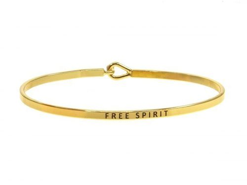 Free Spirit Bangle Bracelet Gold