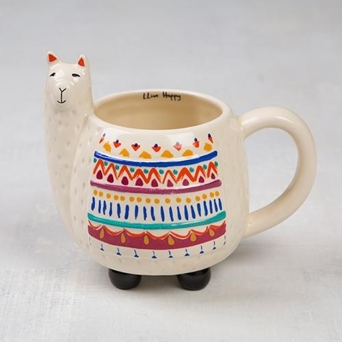 Llama Folk Art Mug