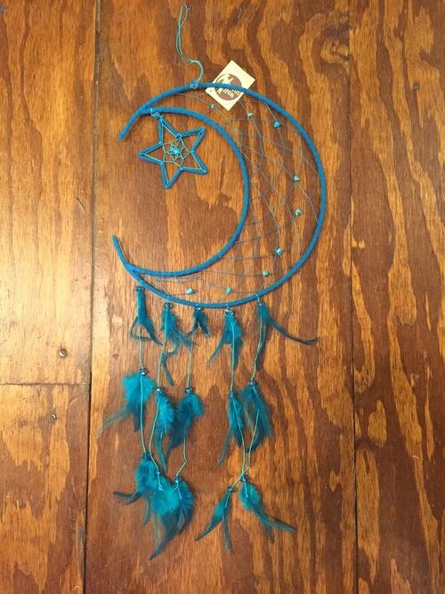 Turquoise Half Moon Dream Catcher