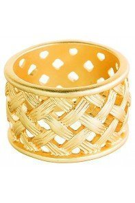 Gold Basketweave Band