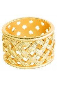Gold Basketweave Band