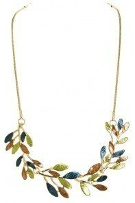 Gold Frosted Branches Necklace