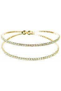 Gold Row Flex Crystal Bracelet