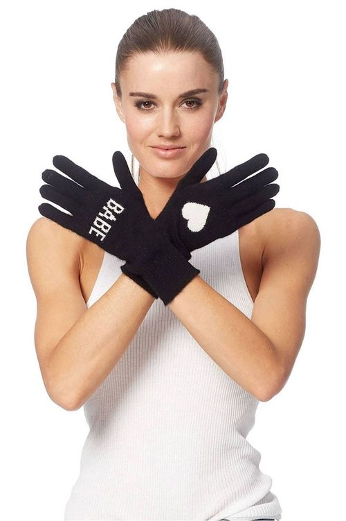Babe Fingerless Gloves