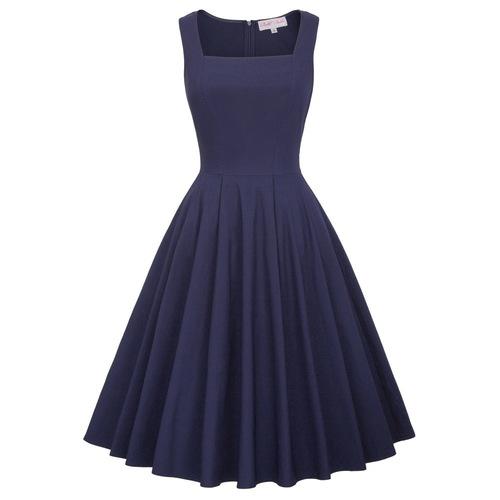 Nora Dress in Navy