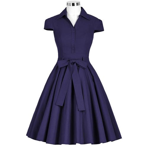 Twyla Dress in Navy