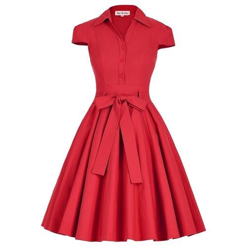 Twyla Dress in Red