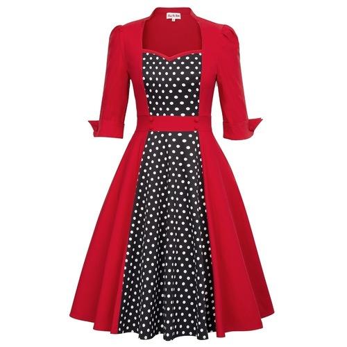 Greta Dress in Red