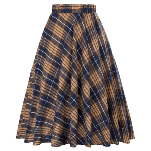 Highland Skirt In Brown Tartan
