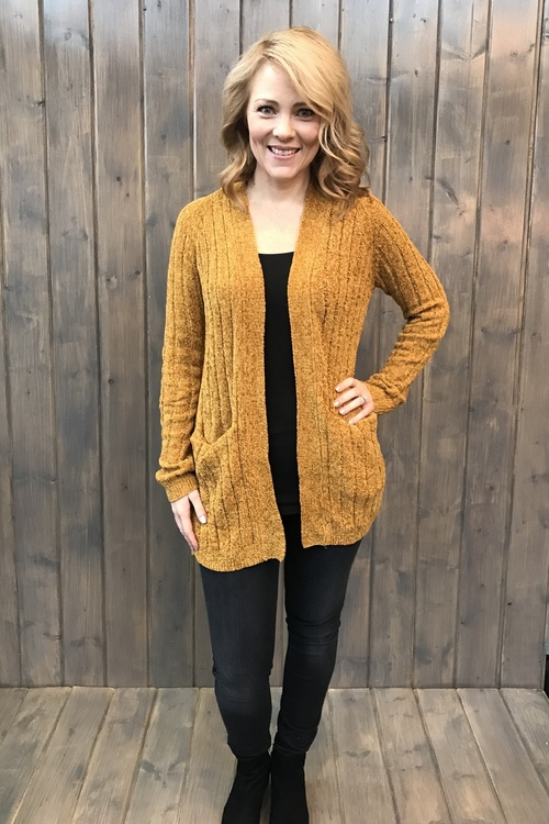 Avery Golden Oak Soft  Yard Sweater Cardigan