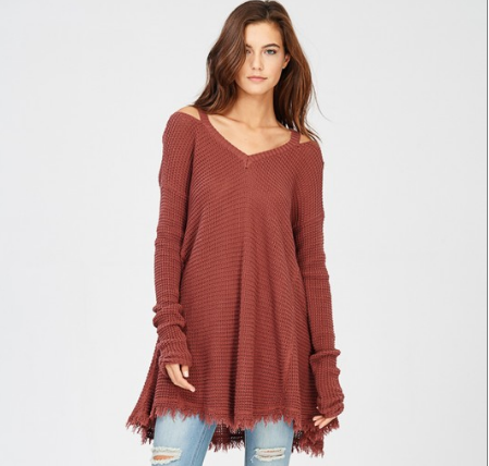 Cold Shoulder Cut Out Sweater