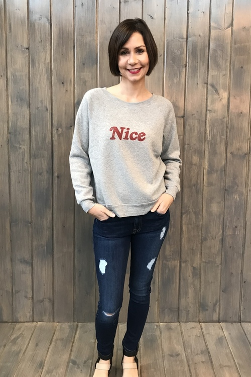 Naughty/Nice Reversible Sweatshirt