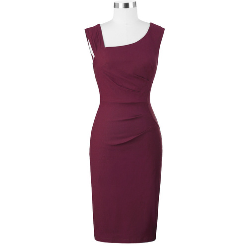 Carmen Dress in Wine