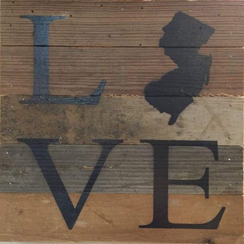 Love New Jersey Wall Art