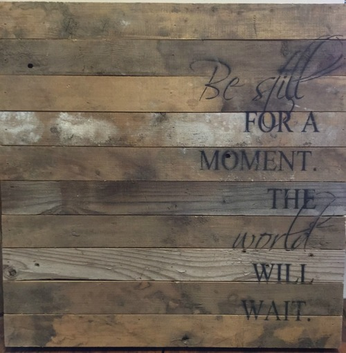 Be Still for a Moment Wall Art