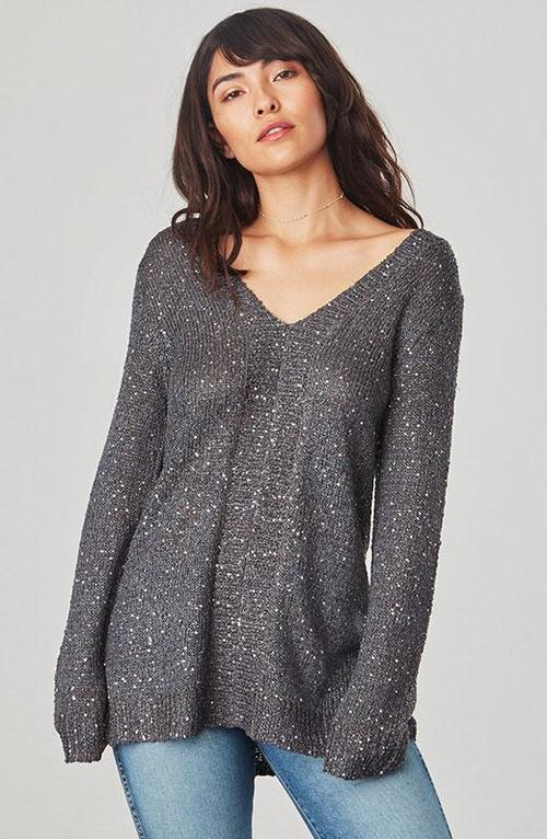 Jackson Sequin Forged Iron Sweater