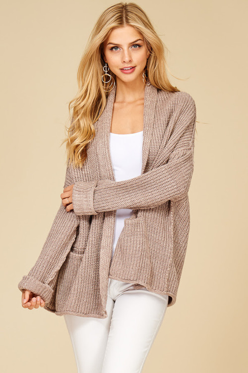 Oversized Chunky Cardigan Sweater
