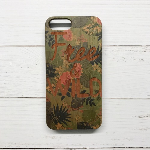 Free & Wild Wood iPhone Case