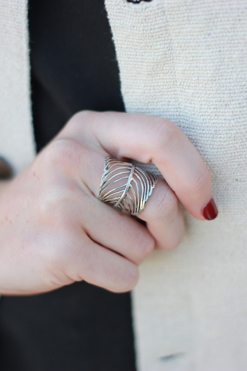 Wide Feather Ring 10/2