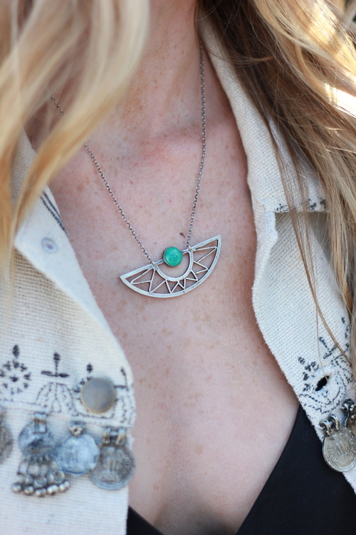 Flight Necklace w Turquoise