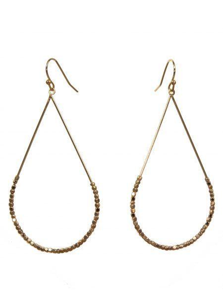 Metal Teardrop Earrings Gold