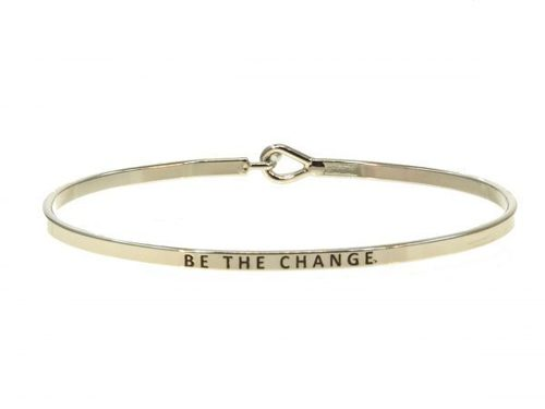 Be the Change Bangle Bracelet Silver