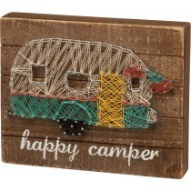 Happy Camper Box Sign