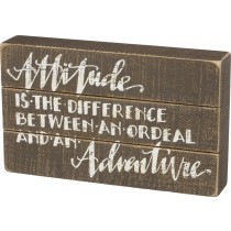 Attitude Slat Box Sign