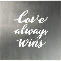 Love Wins Metal Wall Art