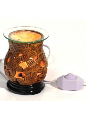 Aroma Lamp Brown Flower