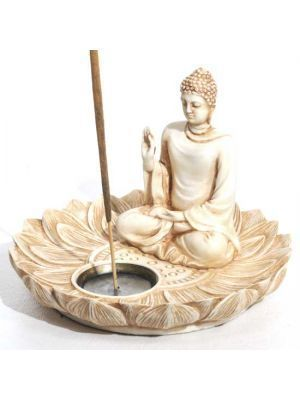 Ivory Lotus Buddha Ash Catcher