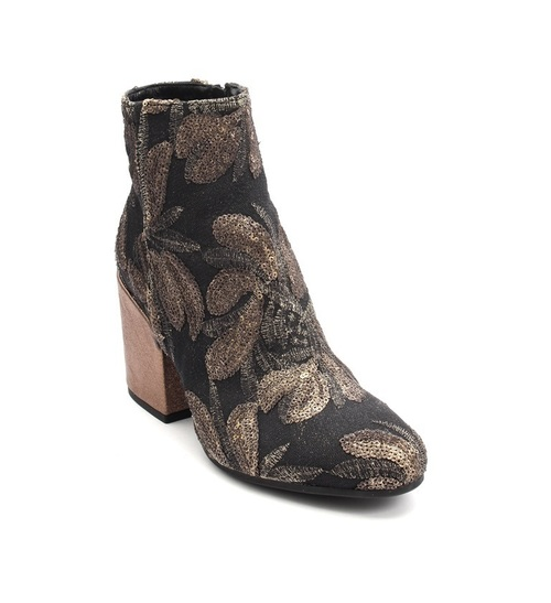Multi-Color Sequin-Embroidered / Leather Boot
