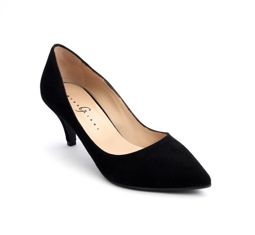 Black Suede Pointy Toe Pumps