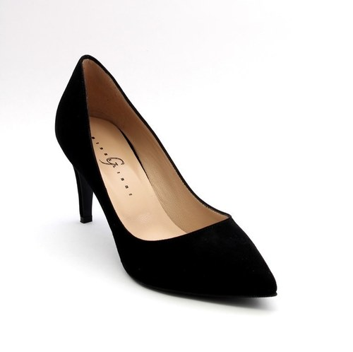 Black Suede Pointy Pumps