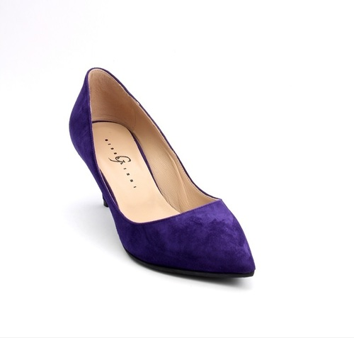 Purlple Suede Pointy Toe Pumps