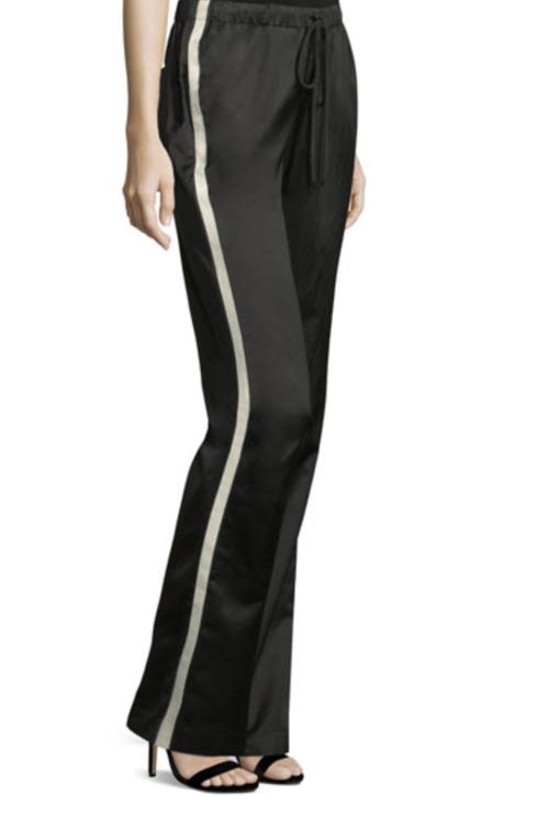 Side Stripe Satin Track Pant