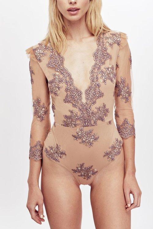 Amber Scallop Edge Bodysuit