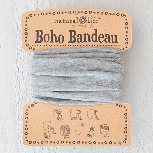 Heathered Grey Boho Bandeau