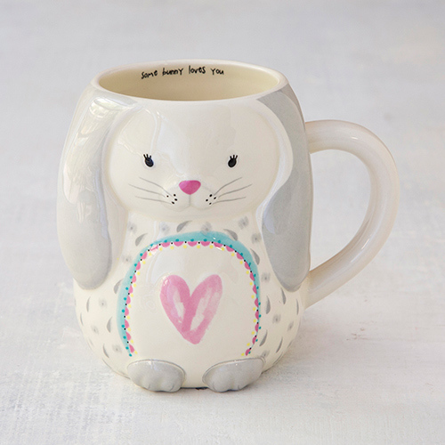 Some Bunny Loves You Bunny Folk Art Mug