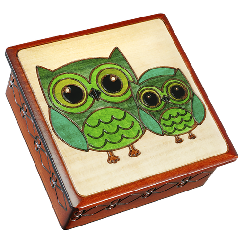 Green Owls, Getting Ready for Bed