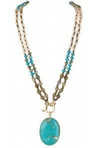 Convertible Toggle Turquoise Necklace