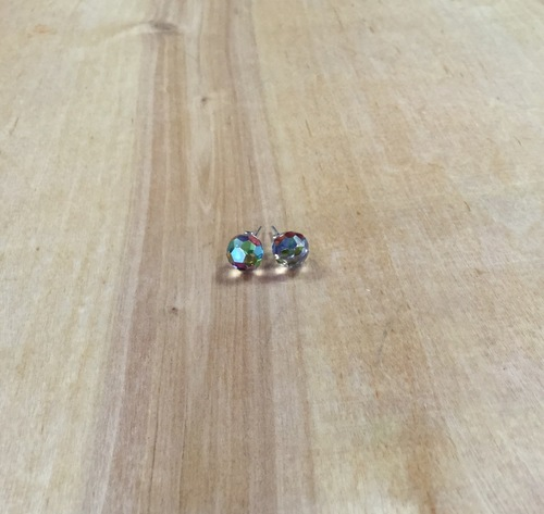 Red Green Swarovski Bead Earrings