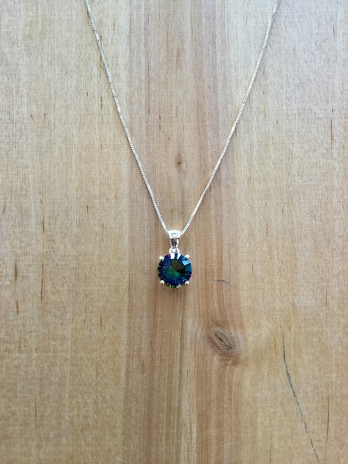 Blue Mystic Topaz Necklace