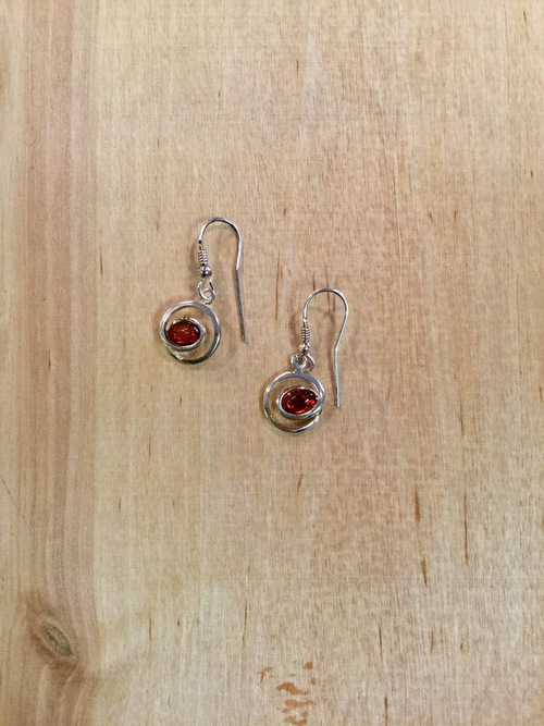 Amber Contemporary Design Earrings