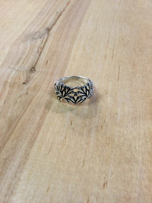 Flowering Leaves Sterling Ring