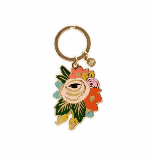 Rosa Enamel Keychain
