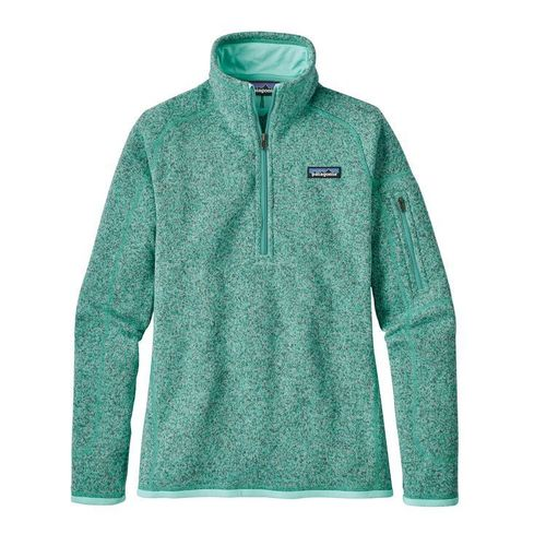 Patagoina W Better Sweater Quarter Zip Bend Blue