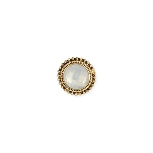 Gold & Clear Iridescent Post Earring
