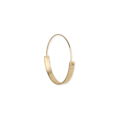 Gold Flat Bottom Hoop Earrings